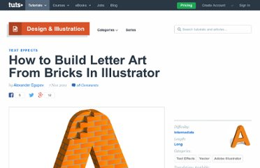 http://vector.tutsplus.com/tutorials/text-effects/letter-brick-art/