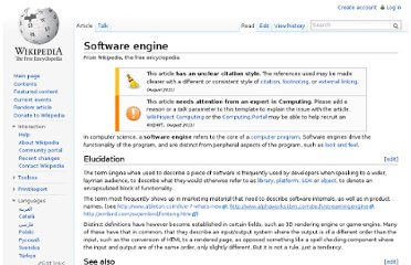 http://en.wikipedia.org/wiki/Software_engine