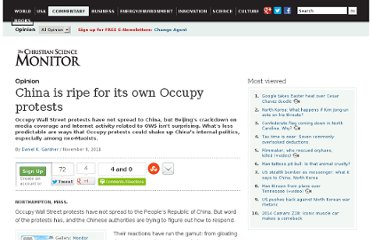 http://www.csmonitor.com/Commentary/Opinion/2011/1108/China-is-ripe-for-its-own-Occupy-protests
