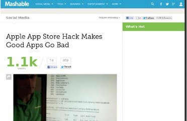 http://mashable.com/2011/11/08/apple-app-store-hack/