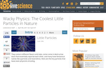http://www.livescience.com/13593-exotic-particles-sparticles-antimatter-god-particle.html