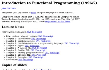 http://www.cl.cam.ac.uk/teaching/Lectures/funprog-jrh-1996/