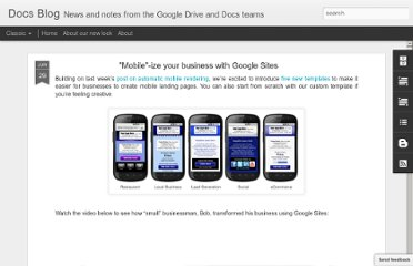 http://googledocs.blogspot.com/2011/06/mobile-ize-your-business-with-google.html
