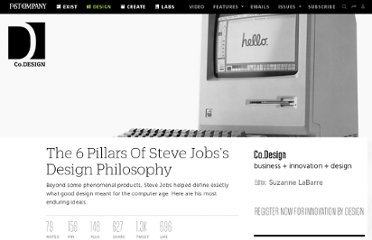 http://www.fastcodesign.com/1665375/the-five-defining-features-of-steve-jobss-design-philosophy