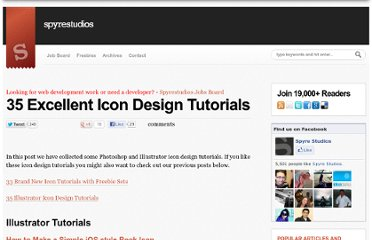 http://spyrestudios.com/35-excellent-icon-design-tutorials/