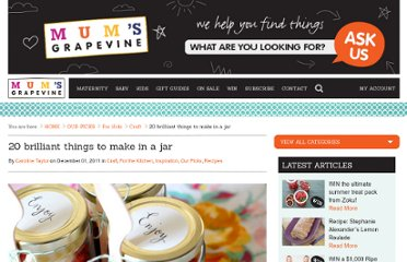 http://www.thedailybuzz.com.au/2011/11/20-things-to-make-in-a-jar/