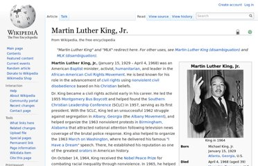 http://en.wikipedia.org/wiki/Martin_Luther_King,_Jr.