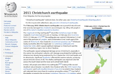 http://en.wikipedia.org/wiki/2011_Christchurch_earthquake