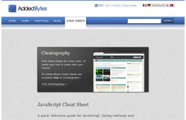 http://www.addedbytes.com/cheat-sheets/javascript-cheat-sheet/