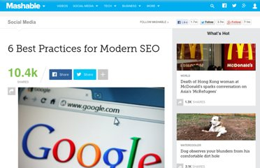 http://mashable.com/2011/11/08/seo-best-practices/
