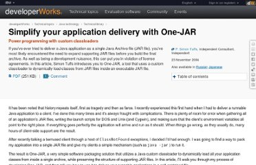 http://www.ibm.com/developerworks/java/library/j-onejar/