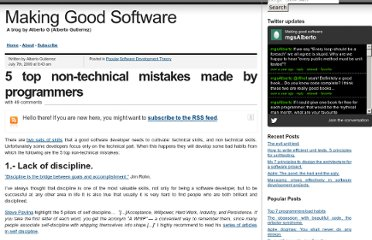 http://www.makinggoodsoftware.com/2009/07/07/5-top-non-technical-mistakes-made-by-programmers/