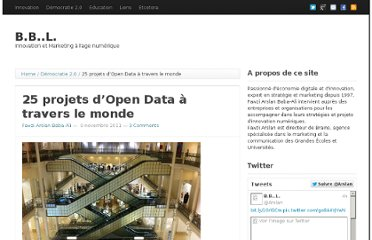 http://baba-ali.com/index.php/2011/11/09/25-projets-dopen-data-a-travers-le-monde