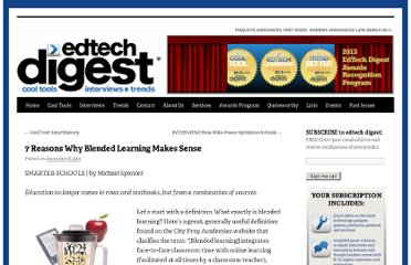 http://edtechdigest.wordpress.com/2010/12/08/7-reasons-why-blended-learning-makes-sense/