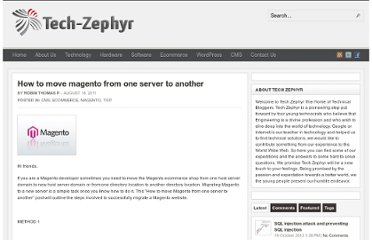http://www.tech-zephyr.com/how-to-move-magento-from-one-server-to-another/