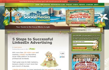 http://www.socialmediaexaminer.com/5-steps-to-successful-linkedin-advertising/