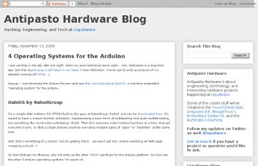 http://antipastohw.blogspot.com/2009/11/4-operating-systems-for-arduino.html