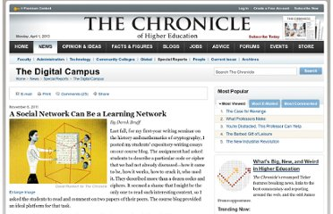 http://chronicle.com/article/A-Social-Network-Can-Be-a/129609