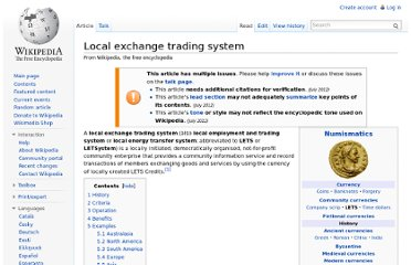 http://en.wikipedia.org/wiki/Local_exchange_trading_system