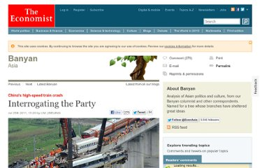 http://www.economist.com/blogs/banyan/2011/07/chinas-high-speed-train-crash