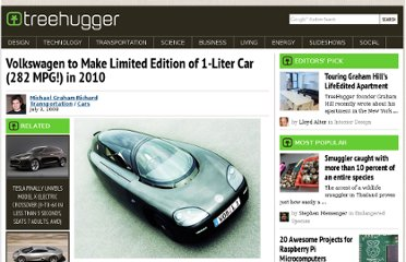 http://www.treehugger.com/cars/volkswagen-to-make-limited-edition-of-1-liter-car-282-mpg-in-2010.html