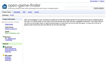 http://code.google.com/p/open-game-finder/