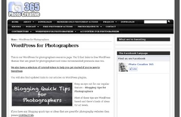 http://photocreative365.com/wordpress-for-photographers