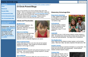 http://www.cicircle.org/Home/ci-circle-parent-blogs