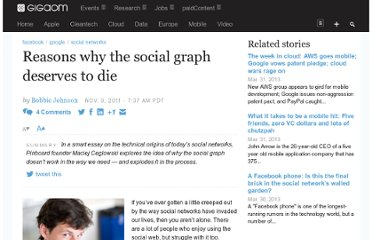 http://gigaom.com/2011/11/09/reasons-why-the-social-graph-deserves-to-die/