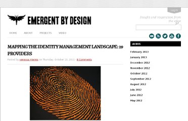 http://emergentbydesign.com/2011/10/13/mapping-the-identity-management-landscape-29-providers/