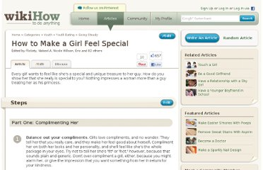 http://www.wikihow.com/Make-a-Girl-Feel-Special