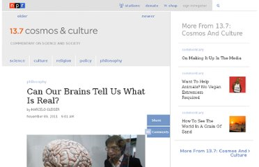 http://www.npr.org/blogs/13.7/2011/11/09/142128705/can-our-brains-tell-us-what-is-real