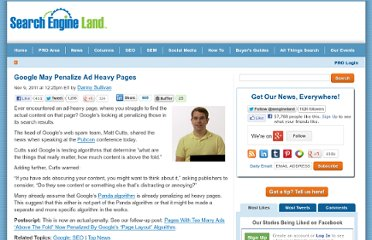 http://searchengineland.com/google-may-penalize-ad-heavy-pages-100601