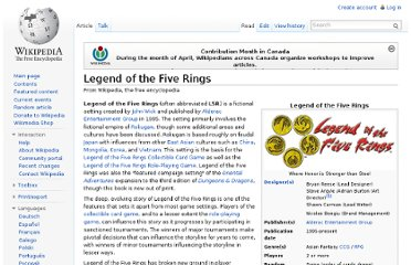 http://en.wikipedia.org/wiki/Legend_of_the_Five_Rings