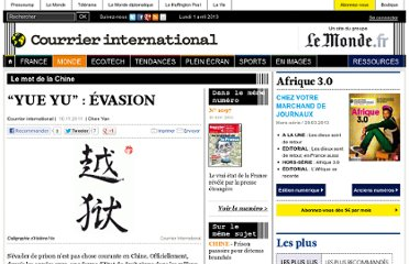 http://www.courrierinternational.com/article/2011/11/10/yue-yu-evasion