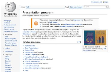 http://en.wikipedia.org/wiki/Presentation_program