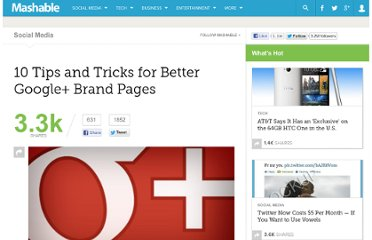 http://mashable.com/2011/11/09/google-plus-brand-pages-tips/