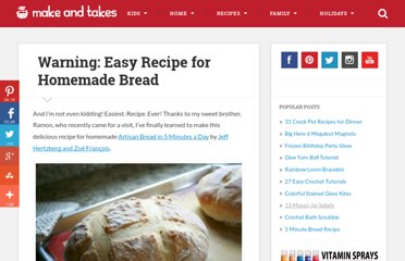 http://www.makeandtakes.com/warning-easiest-recipe-for-homemade-bread