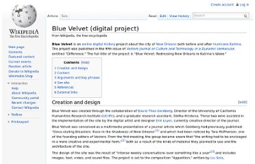 http://en.wikipedia.org/wiki/Blue_Velvet_(digital_project)