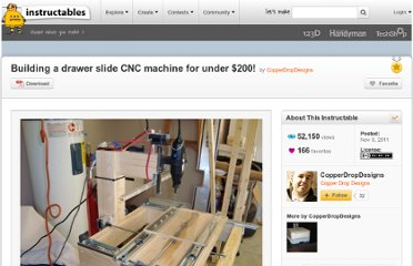 http://www.instructables.com/id/Building-a-drawer-slide-CNC-machine-for-under-200/