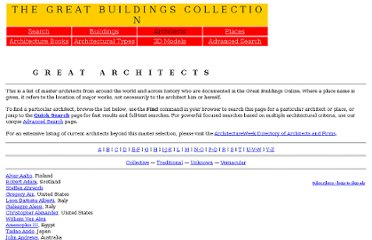 http://www.greatbuildings.com/architects.html