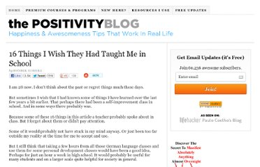 http://www.positivityblog.com/index.php/2008/04/02/16-things-i-wish-they-had-taught-me-in-school/