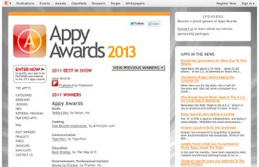 http://www.mediapost.com/appyawards/winners/?event=2011
