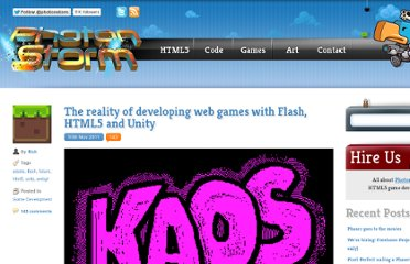 http://www.photonstorm.com/archives/2568/the-reality-of-developing-web-games-with-flash-html5-and-unity
