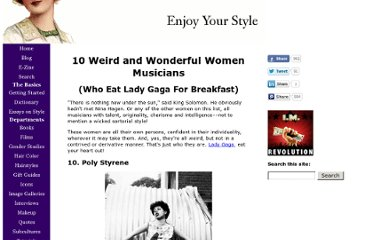 http://www.enjoy-your-style.com/weird-women-musicians.html
