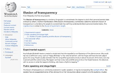 http://en.wikipedia.org/wiki/Illusion_of_transparency