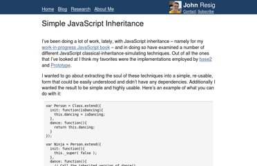 http://ejohn.org/blog/simple-javascript-inheritance/