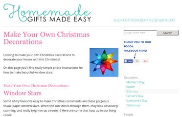 http://www.homemade-gifts-made-easy.com/make-your-own-christmas-decorations.html
