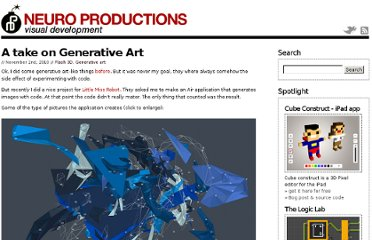 http://www.neuroproductions.be/generative-art/a-take-on-generative-art/