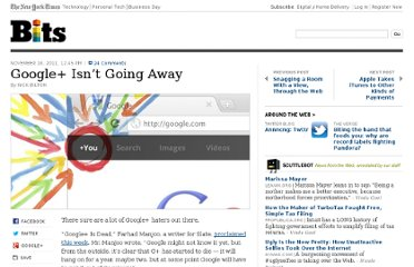 http://bits.blogs.nytimes.com/2011/11/10/google-isnt-going-anywhere/